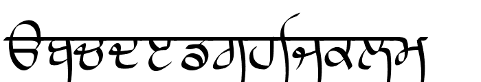 Lanma Script Light Font LOWERCASE