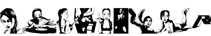 Lara Croft Tomb Raider Font UPPERCASE
