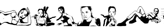 Lara Croft Tomb Raider Font LOWERCASE