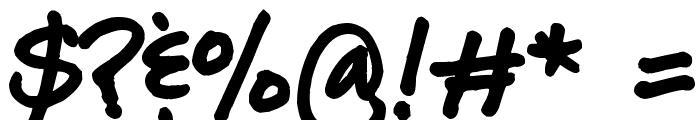 Lara Prints Bold Font OTHER CHARS