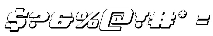 Laredo Trail 3D Italic Font OTHER CHARS
