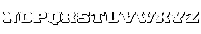 Laredo Trail 3D Regular Font UPPERCASE