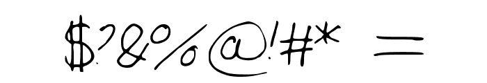 Large_Handwriting Font OTHER CHARS