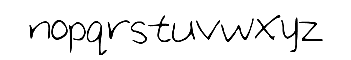 Large_Handwriting Font LOWERCASE