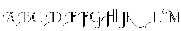 Larkin Capitals Font UPPERCASE