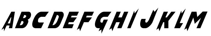 Laser Rod Normal Font UPPERCASE