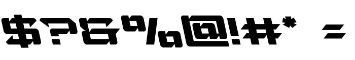 Laser Wolf Leftalic Font OTHER CHARS