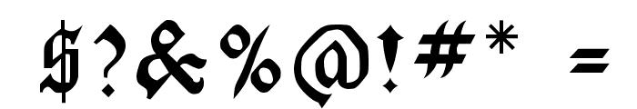 LaserLondon Regular Font OTHER CHARS
