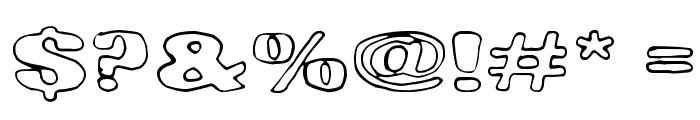Lasihiekka Font OTHER CHARS