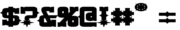 Lassiter Extended Bold Font OTHER CHARS