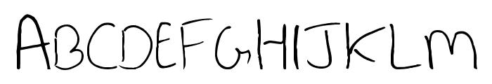 Last Note  Regular Font UPPERCASE