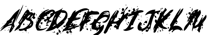 Last Words from the Earth Font UPPERCASE