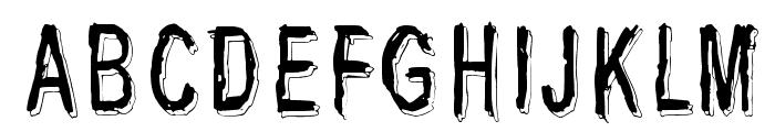 Last living souls Shadow Font UPPERCASE