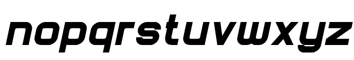 Lastwaerk black Oblique Font LOWERCASE