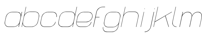 Lastwaerk thin Oblique Font LOWERCASE