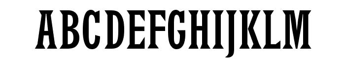 LatinRCond Font UPPERCASE