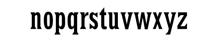 LatinRCond Font LOWERCASE