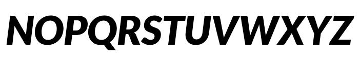 Lato Black Italic Font UPPERCASE