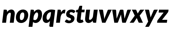 Lato Black Italic Font LOWERCASE