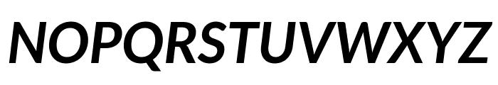 Lato Bold Italic Font UPPERCASE
