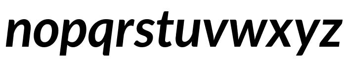 Lato Bold Italic Font LOWERCASE