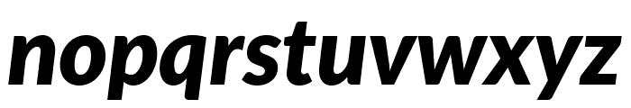 Lato ExtraBold Italic Font LOWERCASE