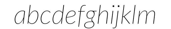 Lato ExtraLight Italic Font LOWERCASE