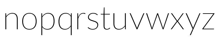 Lato ExtraLight Font LOWERCASE