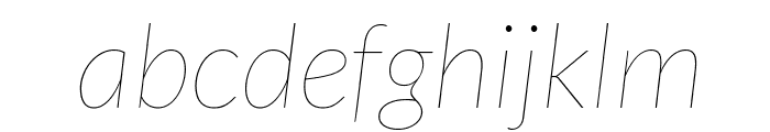 Lato Hairline Italic Font LOWERCASE