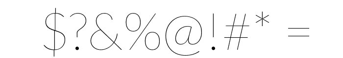 Lato-Hairline Font OTHER CHARS