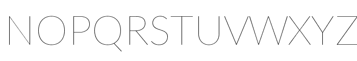 Lato-Hairline Font UPPERCASE