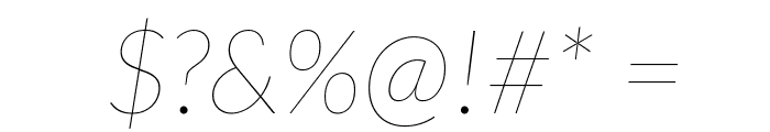 Lato-HairlineItalic Font OTHER CHARS