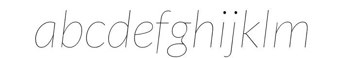 Lato-HairlineItalic Font LOWERCASE