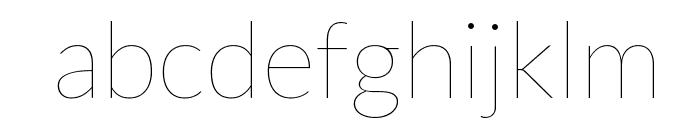 Lato-Hairline Font LOWERCASE