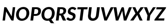 Lato Heavy Italic Font UPPERCASE