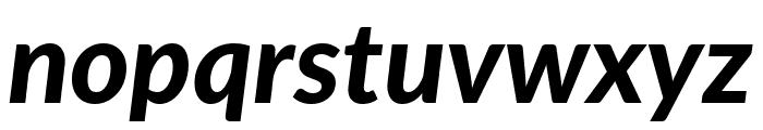 Lato Heavy Italic Font LOWERCASE
