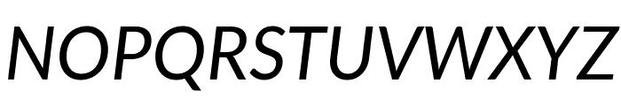 Lato Italic Font UPPERCASE