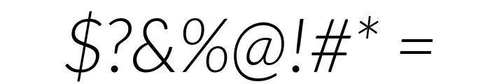 Lato Light Italic Font OTHER CHARS