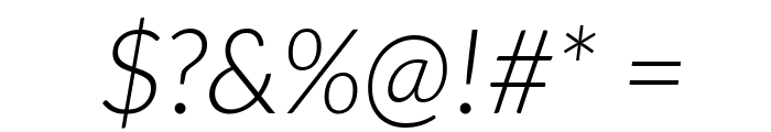 Lato-LightItalic Font OTHER CHARS
