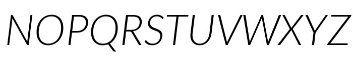 Lato-LightItalic Font UPPERCASE