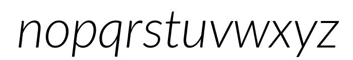 Lato-LightItalic Font LOWERCASE