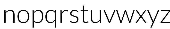 Lato-Light Font LOWERCASE