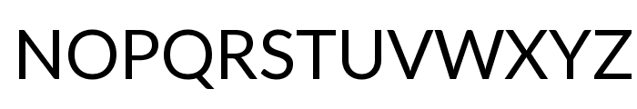 Lato Regular Font UPPERCASE