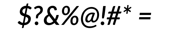 Lato SemiBold Italic Font OTHER CHARS