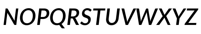 Lato SemiBold Italic Font UPPERCASE