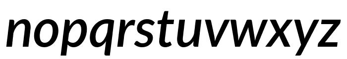 Lato SemiBold Italic Font LOWERCASE