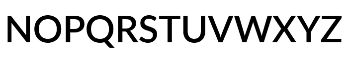 Lato SemiBold Font UPPERCASE