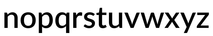 Lato SemiBold Font LOWERCASE