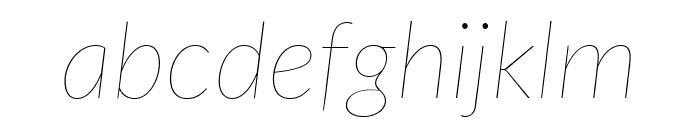 Lato Thin Italic Font LOWERCASE