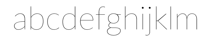 Lato Thin Font LOWERCASE